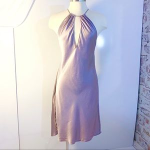 VICTORIA'S SECRET Silk Lilac Keyhole Halter Slip M